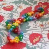 Rainbow Flower Headwrap
