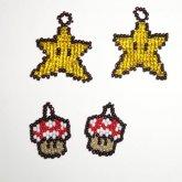 Mario Stars And Mushrooms