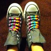 Rainbow Kandi Chucks <3