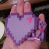Perler Bead X-base With Heart Perler