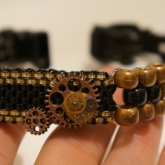 Steampunk Choker With 3d Gears