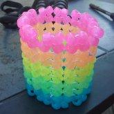 Rainbow Herringbone Cuff