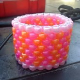 Pink And Orange Peyote Cuff