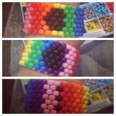 Love Wins Peyote Kandi Cuff