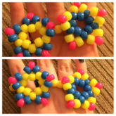 Neon yellow, pink, and blue star bracelet