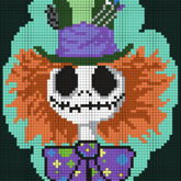 Mad Hatter Jack Skellington Square Pattern