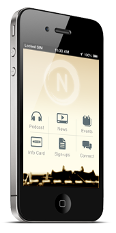 [Narrate Church iPhone application.]