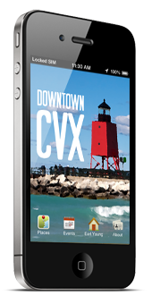 [Downtown Charlevoix iPhone application.]