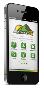 [High Country 365 iPhone application.]