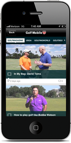 Golf Mobile US app