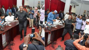 Atiku And Dino Melaye Surprises Audience With Dance Moves At PDP NEC Meeting [Video] 13