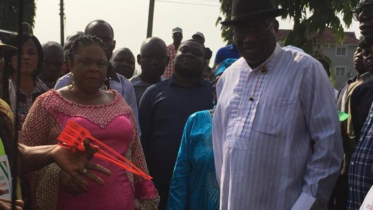 Goodluck Jonathan And His Wife Patience, Cast Their Votes In Otuoke, Bayelsa State [Photos] 3