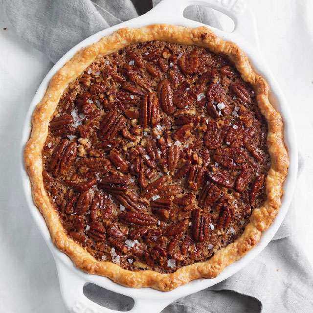Roasted Pecan Pie with Bourbon