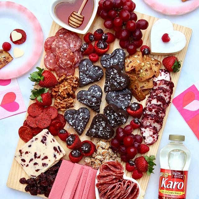 Galentine's Day Board Featuring Dark Chocolate Fudge
