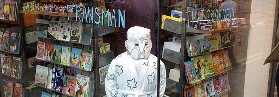 My Window Display at Gosh Comic Shop, Soho
