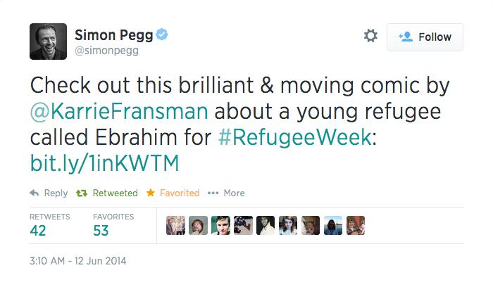 Simon Pegg Tweet