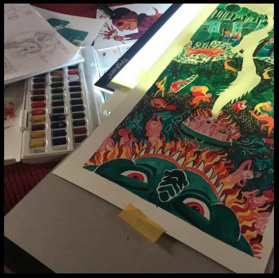 Work in progress- medieval comics