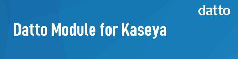 Kaseya module banner