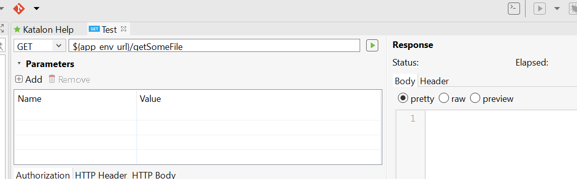 Queries on RestAPI Automation using Katalon - API / Web Services