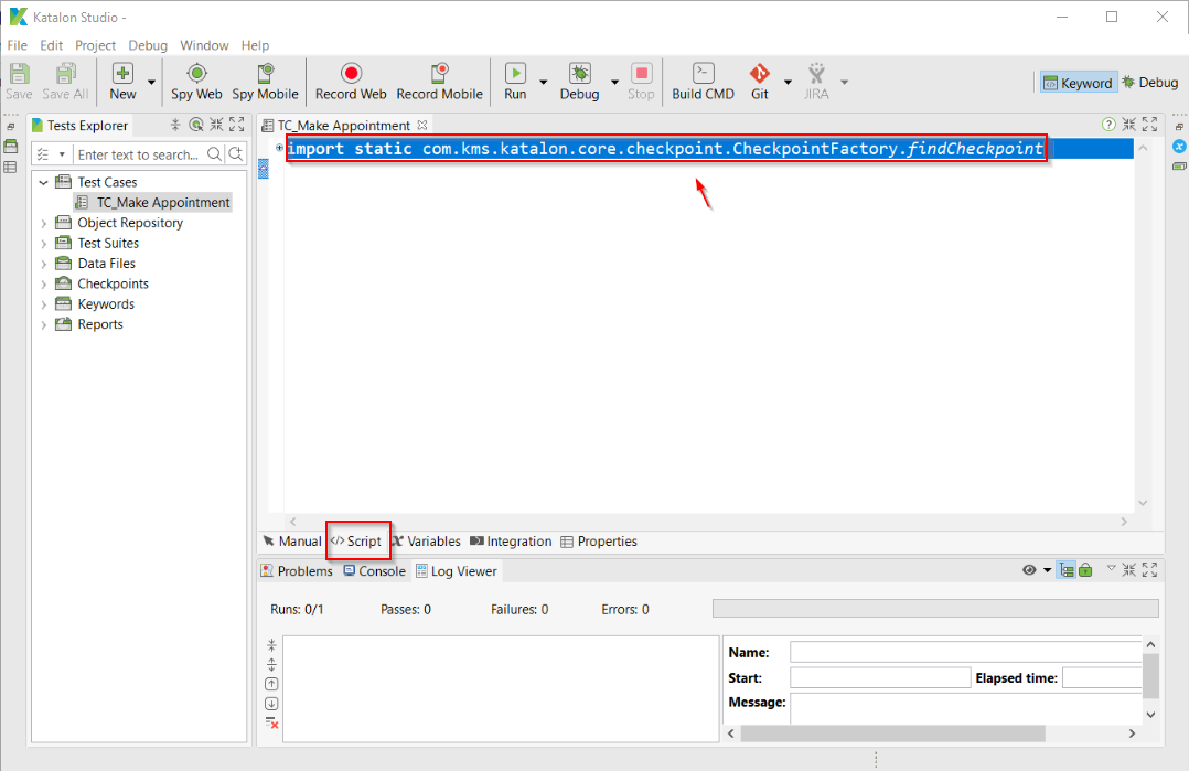 How to import Selenium IDE test cases into Katalon Studio