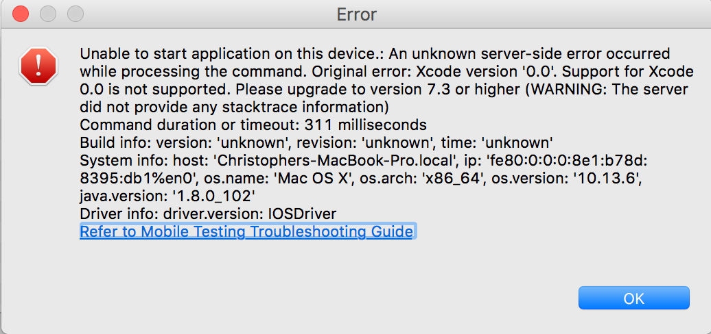 Xcode 10 Not Supported in Katalon 5 7 1 - Bug Reports - Katalon