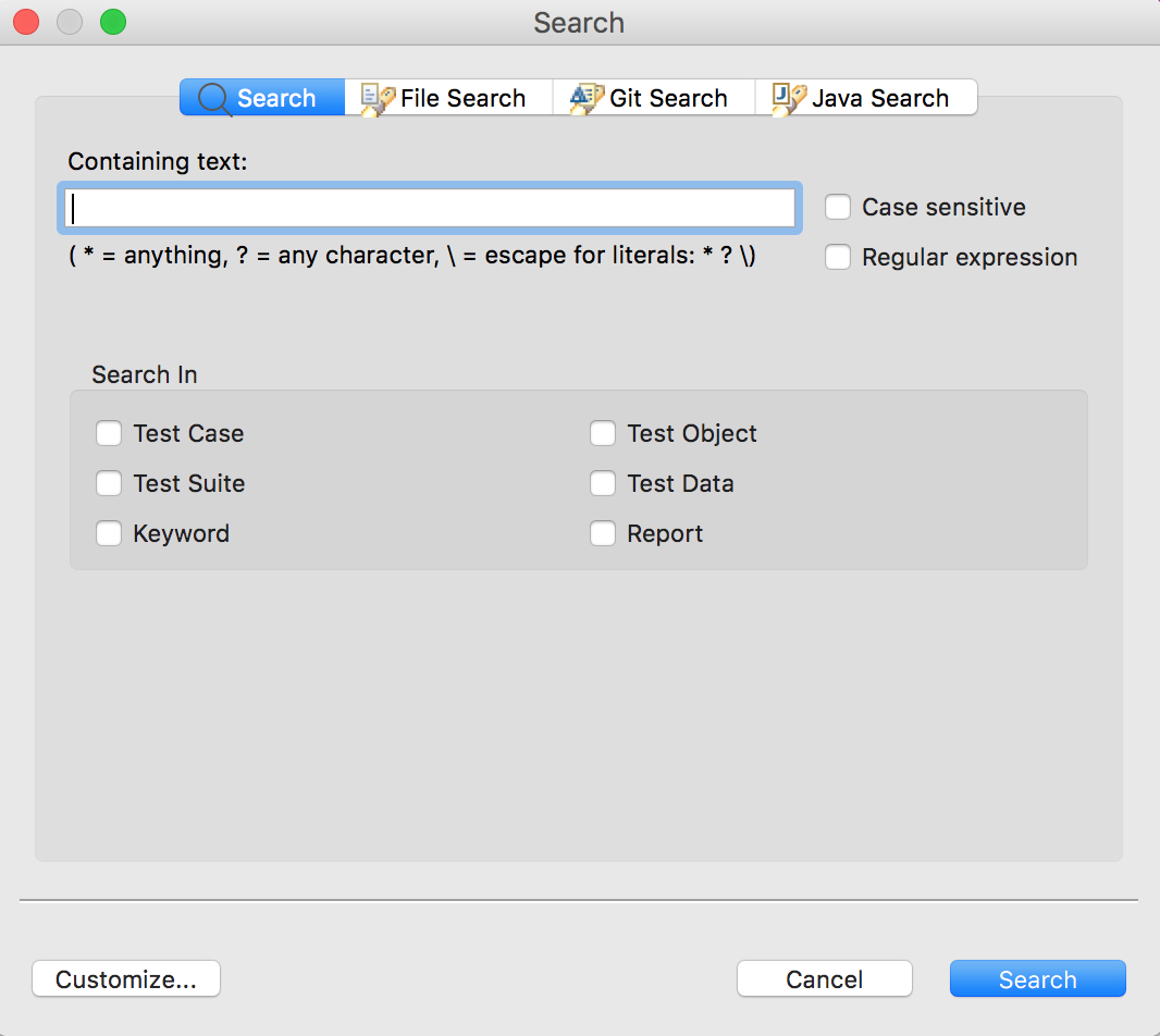 Unable to search(Command+H) on Mac - Bug Reports - Katalon