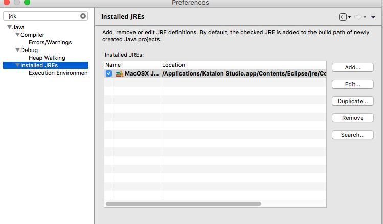 Katalon running on Java 10 - Feature / Improvement Suggestions