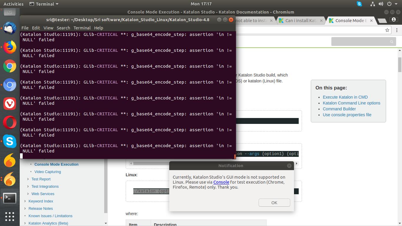 Can i install Katalon studio in Ubuntu ? - General