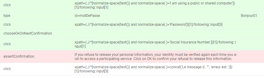 Katalon recorder assertConfirmation does not work - Bug