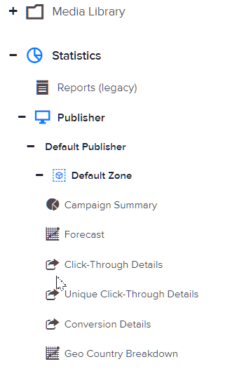 How to view a zone's click-through details
