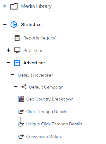 How to view a campaign's click-through details