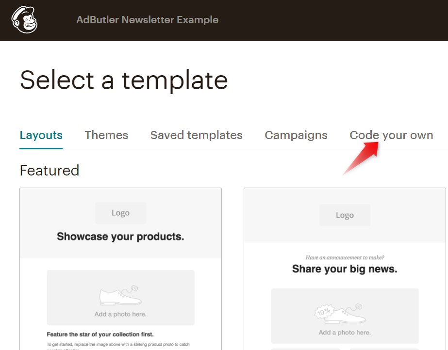 Coding your own email template in Mailchimp