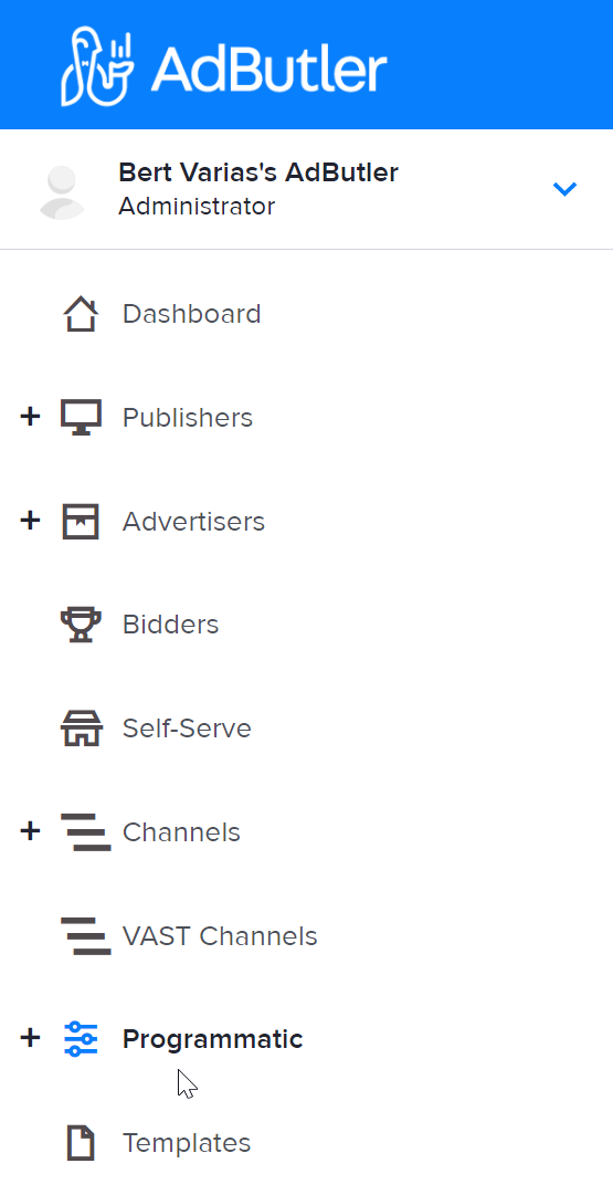 How to access the Programmatic section in AdButler