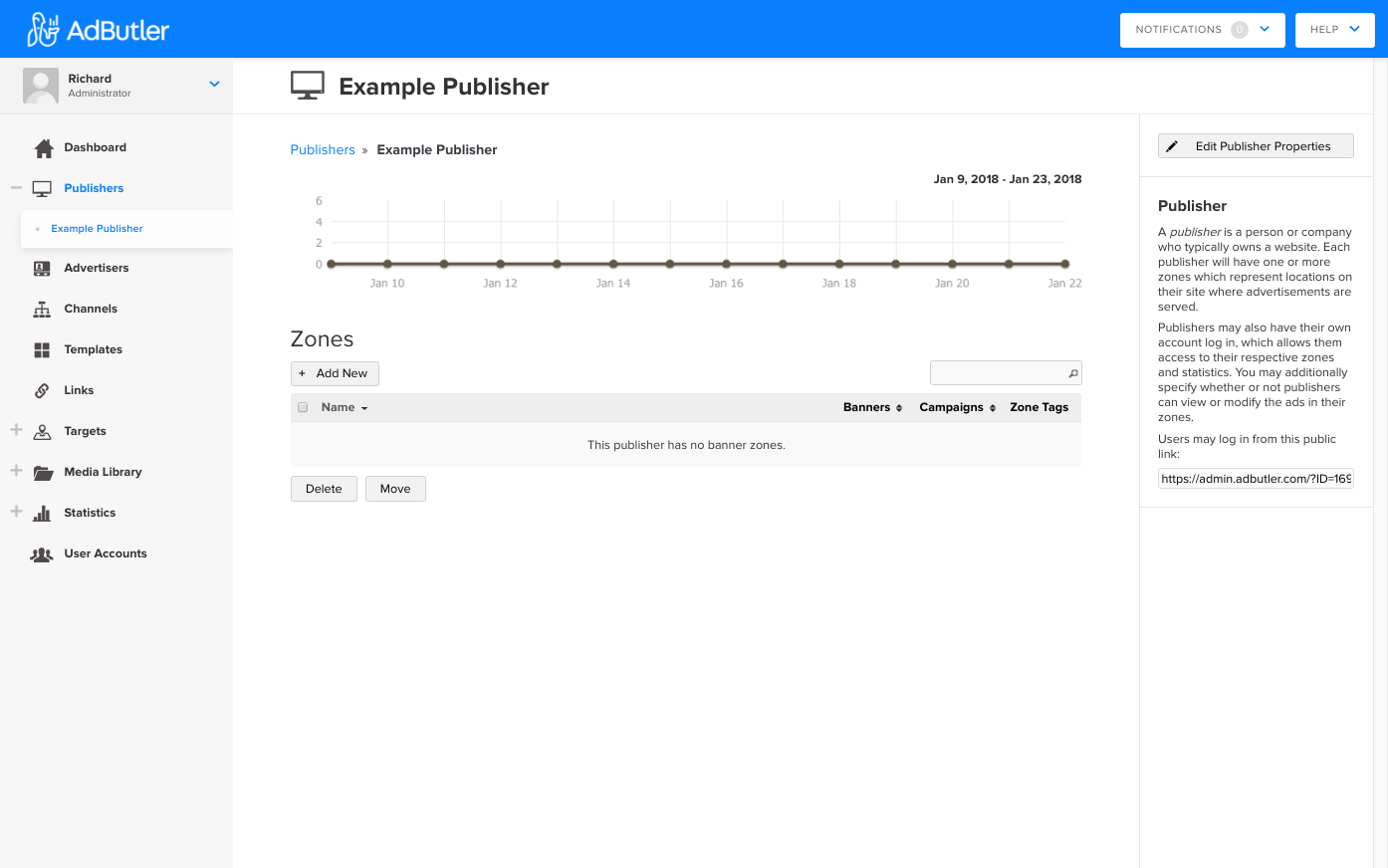 Publisher Dashboard