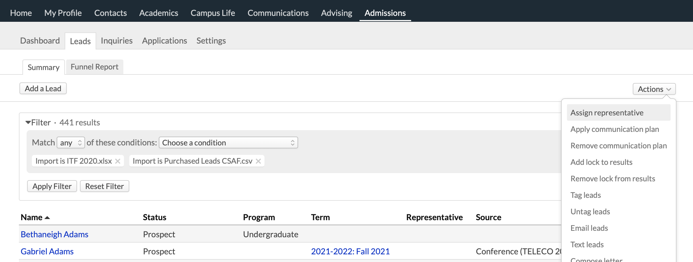 admissions_leads_import_filter