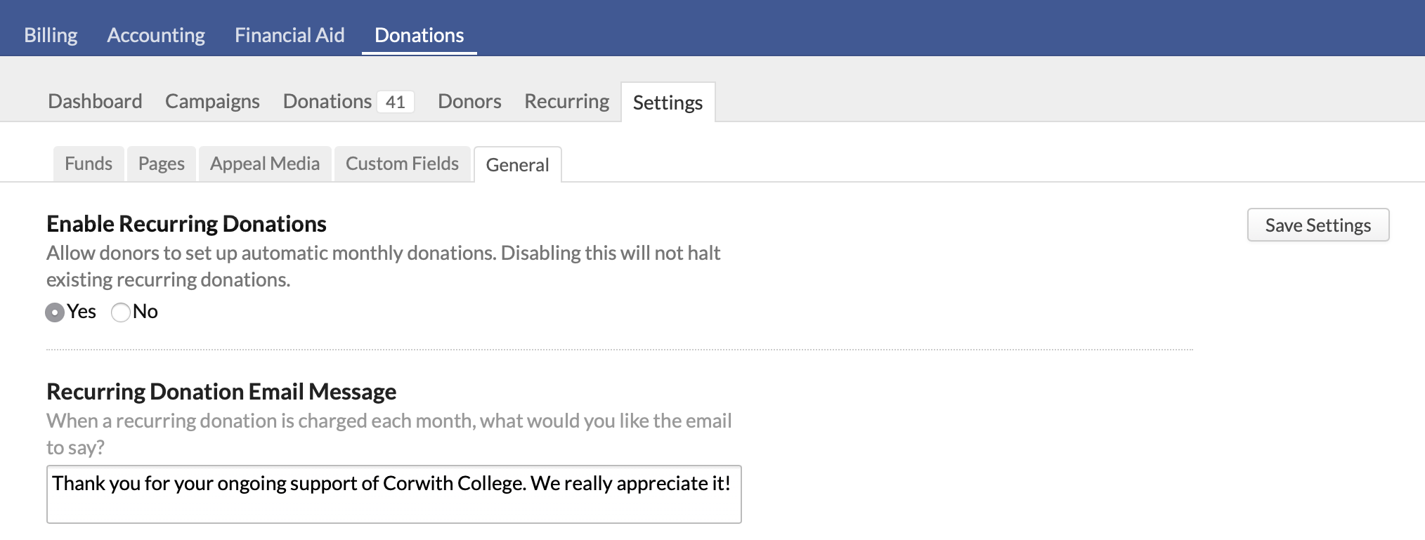 Recurring donations – Populi Knowledge Base