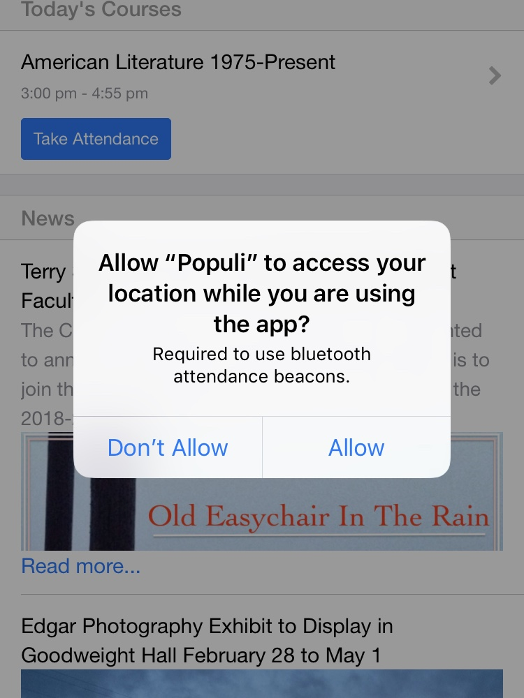 Taking attendance with Populi's mobile apps – Populi