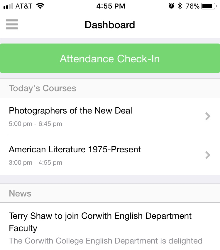 How to use Populi's mobile apps to check in for course attendance
