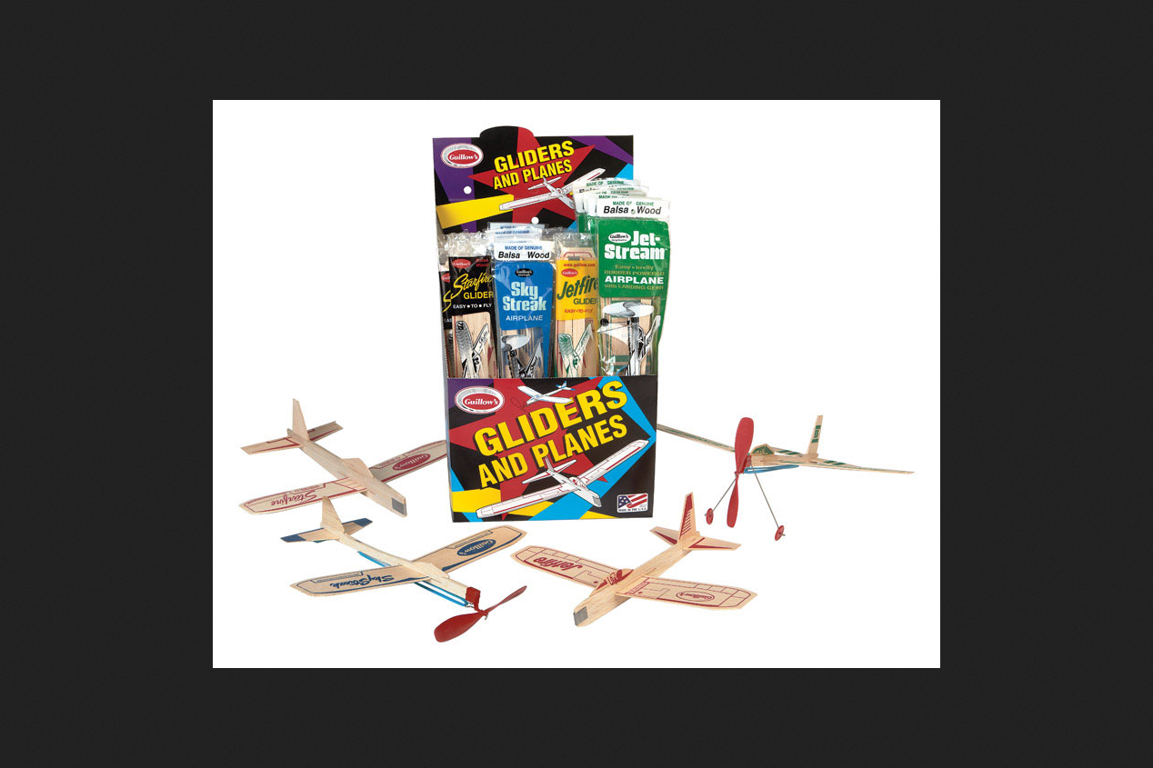 Paul Guillow Multi Colored Balsa Wood Gliders And Planes 72365000773