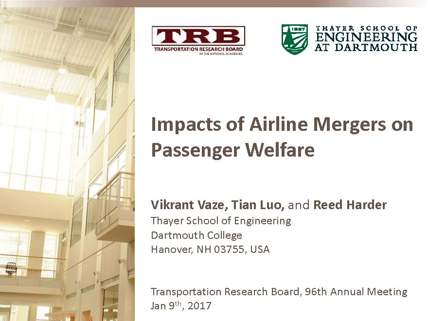 Impacts of Airline Mergers on Passenger Welfare | TRB