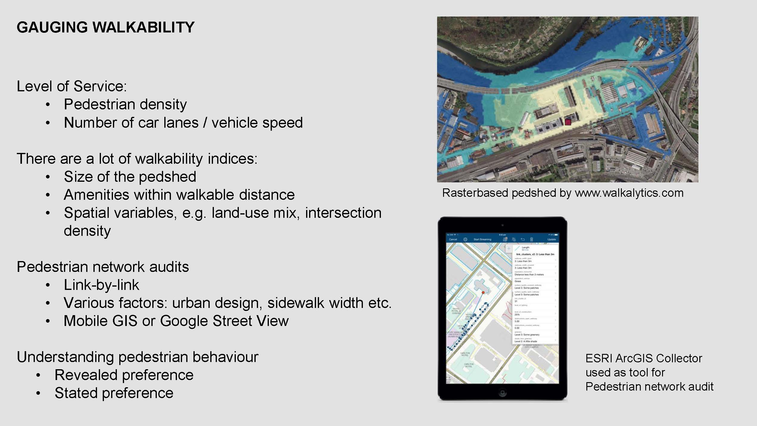 Introducing the Pedestrian Accessibility Tool : Open-Source GIS