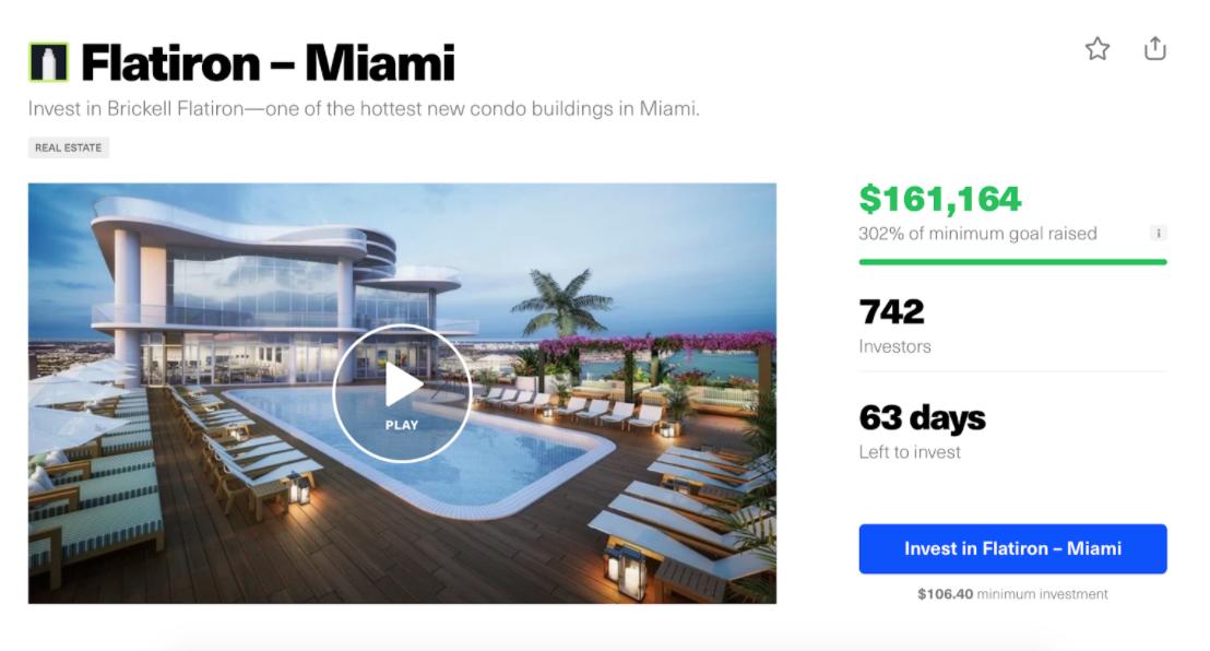 The listing for Flatiron Miami on Republic.