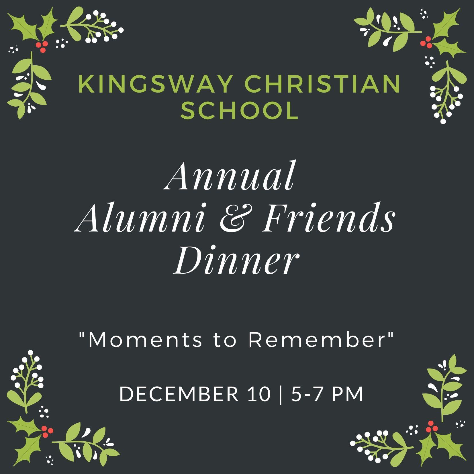 Kingsway Alumni  & Friends Christmas Dinner