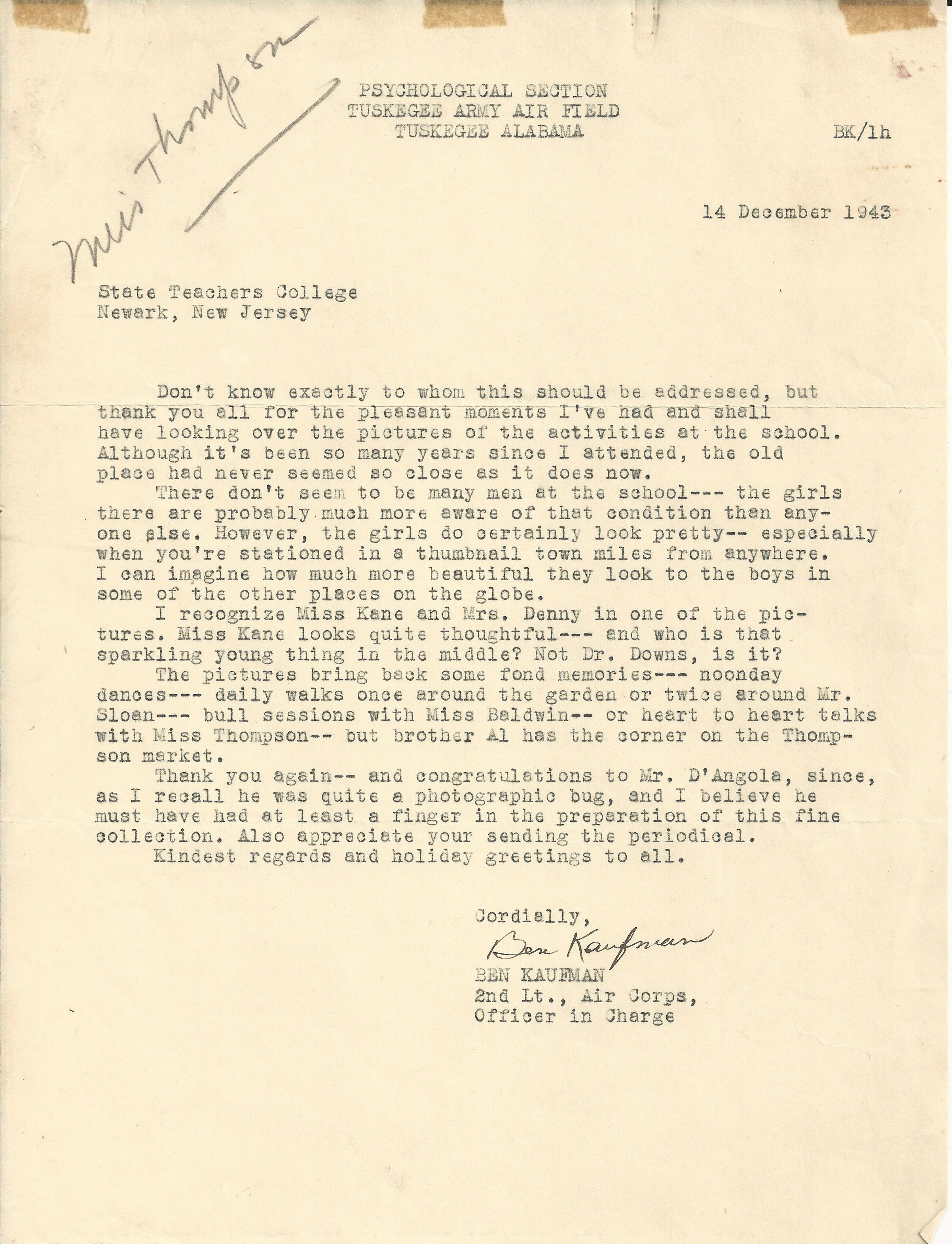 Benjamin Kaufman December 14 1943