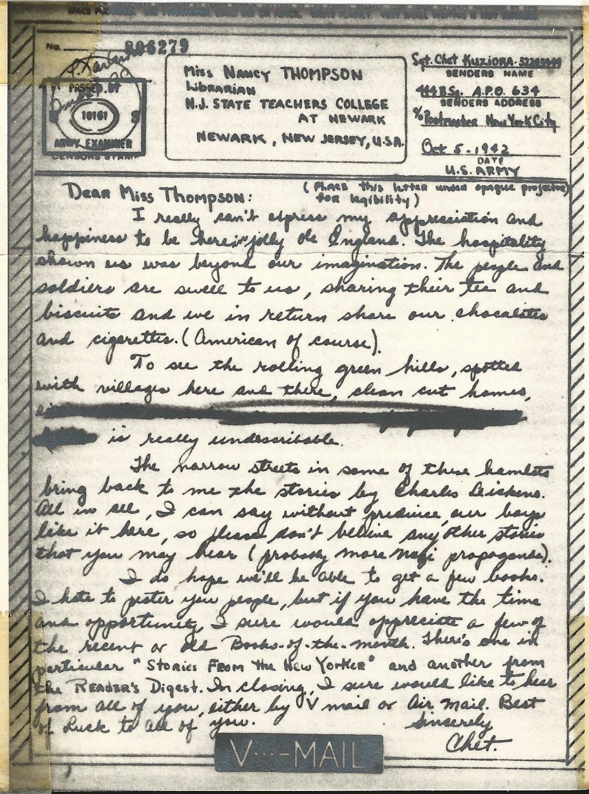 Chester Kuziora October 5 1942