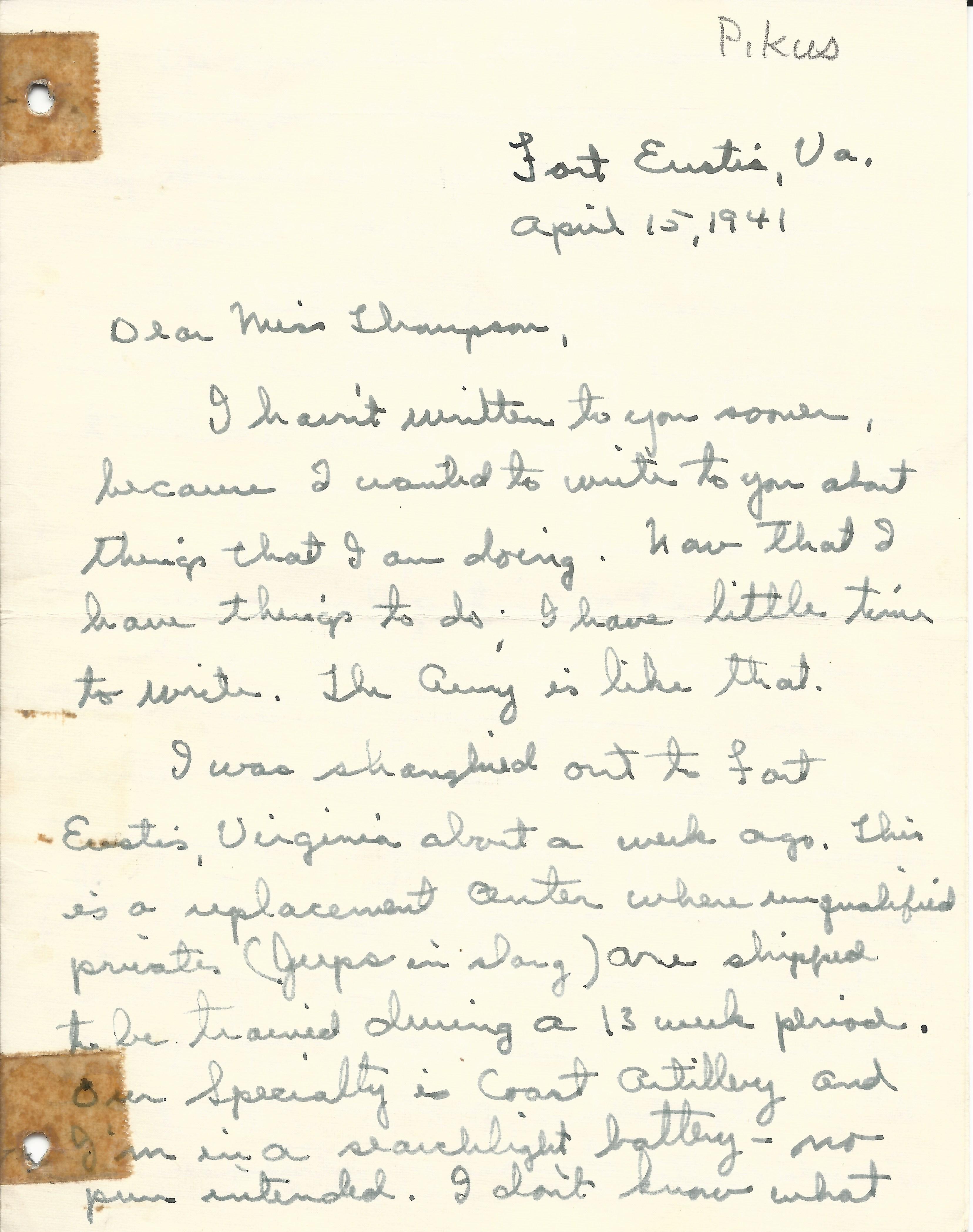 Joseph Pikus April 15 1941
