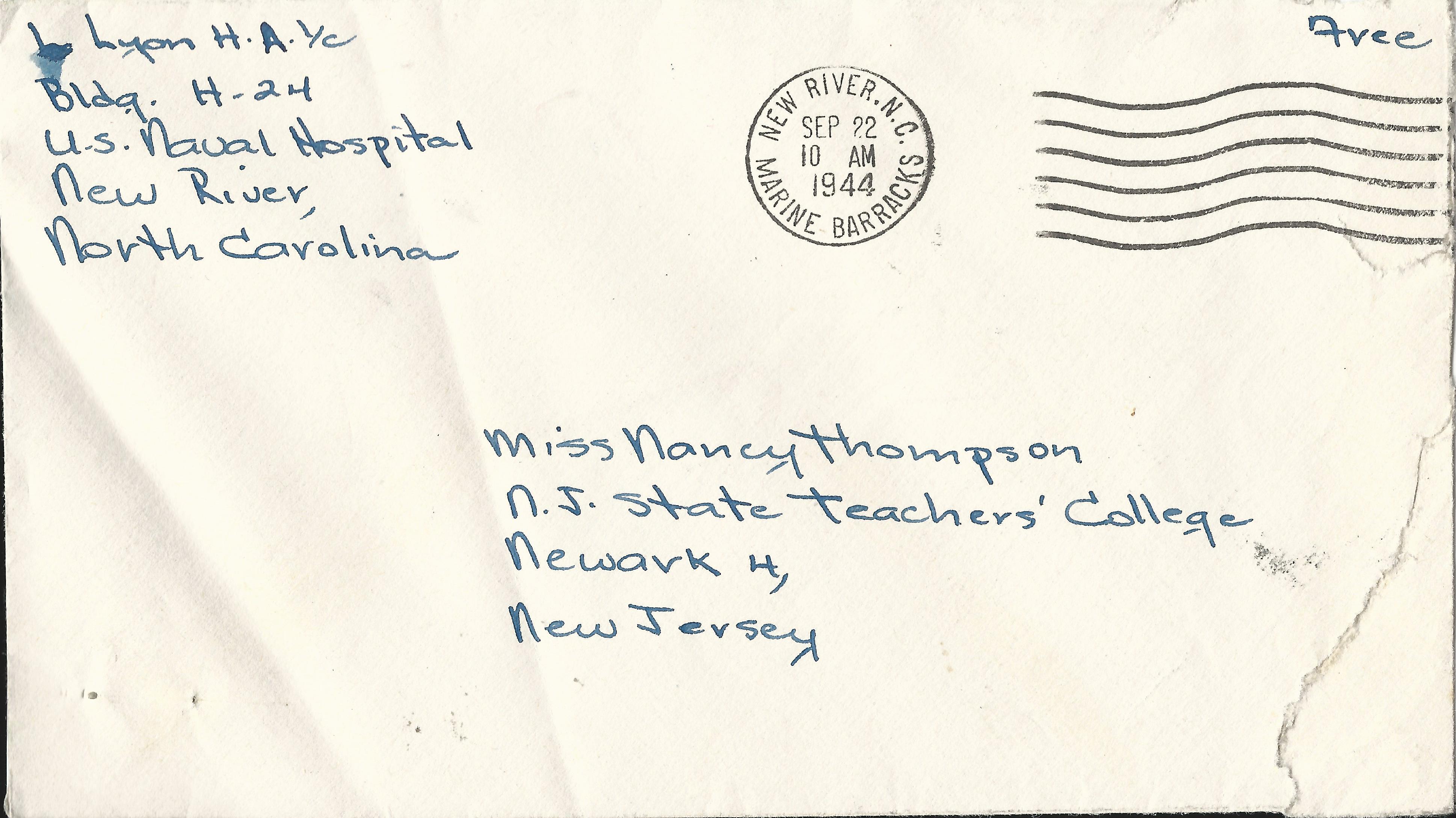 Louise Lyon Envelope September 21 1944
