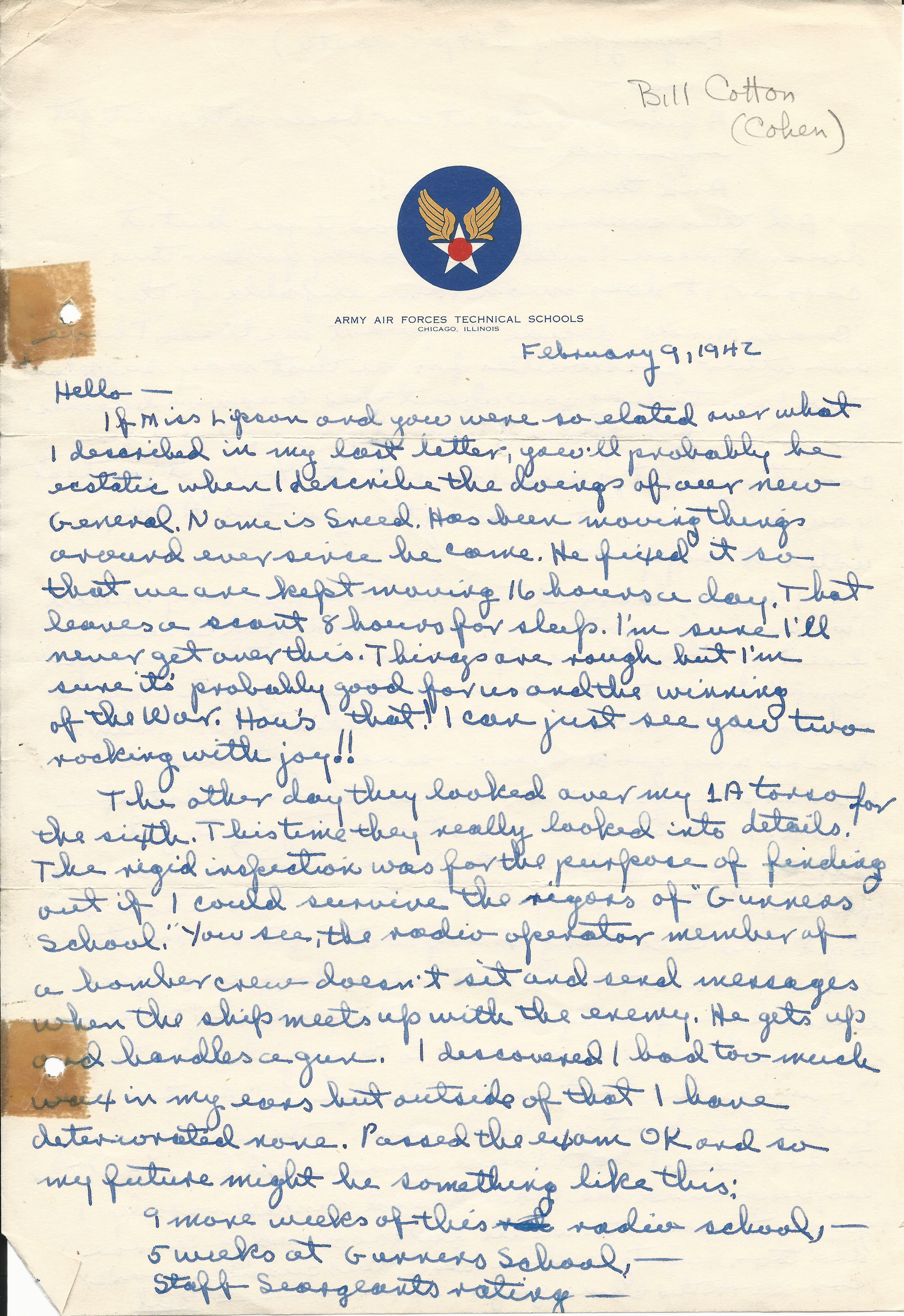 William Cotton February 9 1942