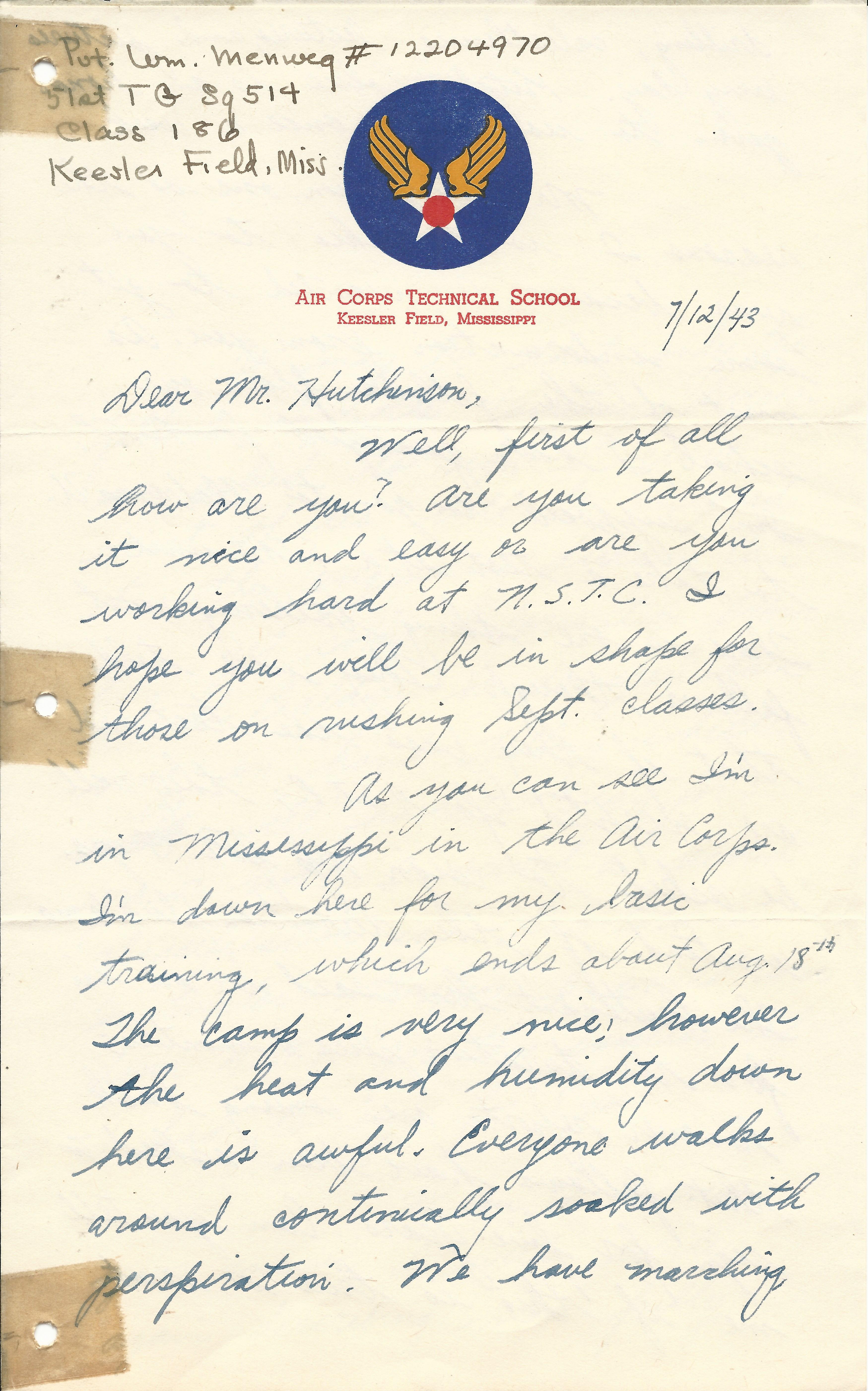 William Menweg July 12 1943