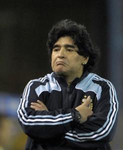 Maradona molesto
